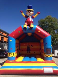 Hüpfburg Clown Lager